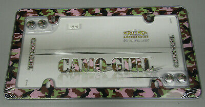 Auto Tag License Plate Frame Camo Girl Cruiser 23093 Plastic Light Weight