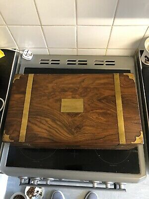 Antique Walnut? Writing Slope With Hidden Drawers And Lockable Top Compartment