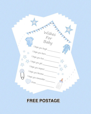 Baby Shower Game WISHES FOR BABY GREY SILVER 14x10cm BABY UNISEX KEEPSAKE PARTY