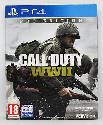 Call Of Duty Wwii Pro Edition - Playstation 4 Ps4 Play Station - Pal España Ww 2