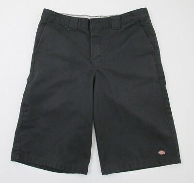 Dickies Shorts Boys Size 18 Regular Black Adjustable Waist Cell Phone Pocket