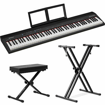 Roland GO:PIANO 88-Key Digital Piano with Front Row Stand and Bench