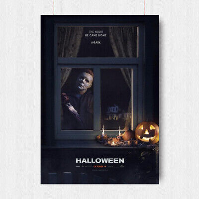 Halloween 2018 Horror Movie Poster Classic Print Wall Image Art -  A4 A3 Size