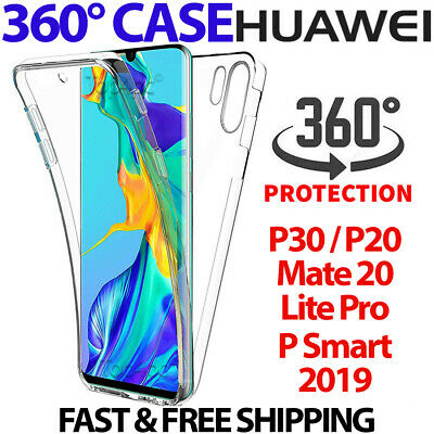 Case For Huawei P20 P30 Pro Mate Lite PSmart Cover 360 Hybrid Shockproof Silicon