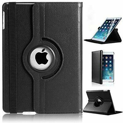 "Apple iPad 10.2"" Leather 360° Rotation Smart Stand Black Book Folio Case Cover"