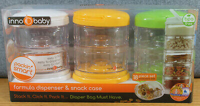 Innobaby Formula Dispenser & Snack Case Packin' SMART Stackables 3 Pack Gift Set