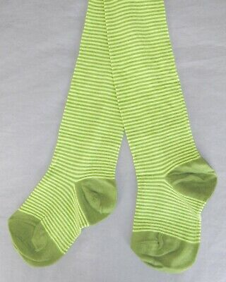 New Girls Next Tights 5-6 Yrs Green Citrine Stripe Winter Christmas Party Top