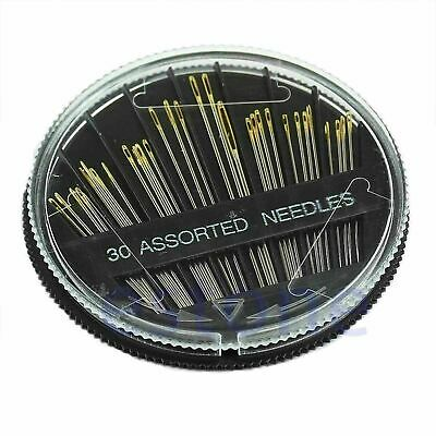 30PCS Lots Assorted Hand Sewing Needles Embroidery Mending Craft Quilt Sew Case