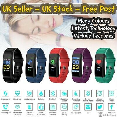 Smart Watch Fitness Tracker Step Counter Pedometer Calorie Heart Rate Sport Band