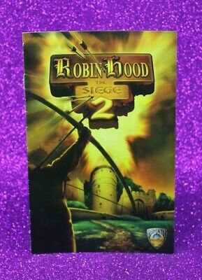 Instruction Booklet/Manual Only For Robin Hood The Siege 2 Ps2 (No Game) ❄️