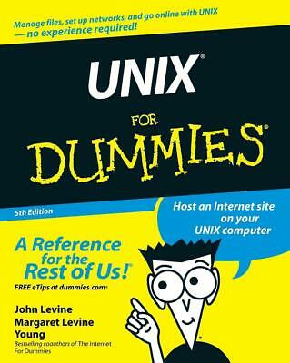 Unix for Dummies by John R. Levine (English) Paperback Book Free Shipping!