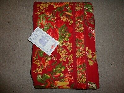 """APRIL CORNELL TABLECLOTH VICTORIAN ROSE 60"""" x 90"""" GORGEOUS COLORS BRAND NEW!"""