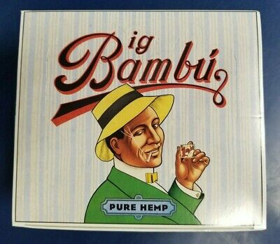 Big Bambu Pure Hemp 50 Booklet Packs Cigarette Rolling Papers Brand New & Sealed