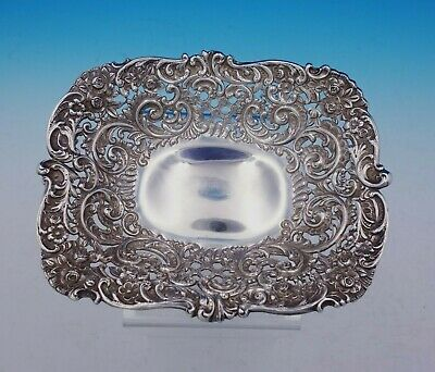 Scroll by Durgin Sterling Silver Nut Bowl /  Bon Bon Bowl Pierced #96 (#3707)