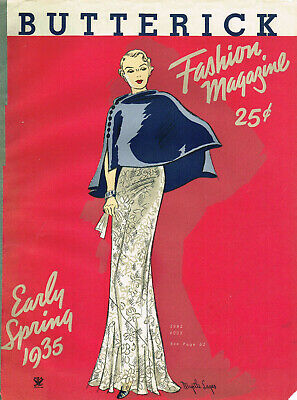 1930s Butterick Early Spring 1935 Fashion and Pattern Book Catalog E-Book on CD