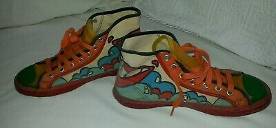 Peter Max Artist design 70's Hi Top Sneakers Kicks NOT WEARABLE, size 5 by Randy