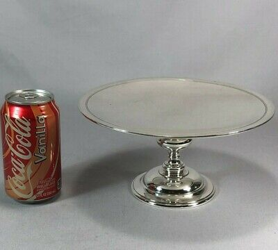 Great Tiffany & Company Makers Sterling Silver Footed Cake Plate Tazza 595 grams
