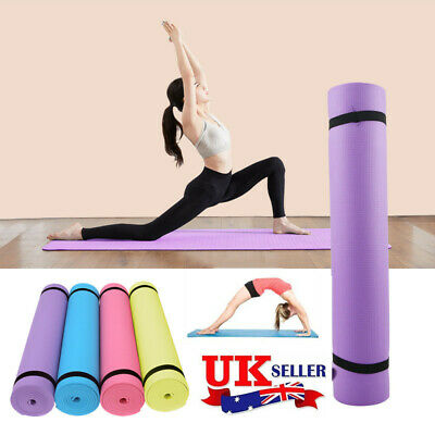 Yoga Mat THICK 6mm 173cm x 61cm Non Slip Exercise/Gym/Camping/Picnic UK