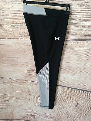NWT YXL GIRLS Under Armour UA Yoga Fitted Pants Workout Sweat Athletic Black $35
