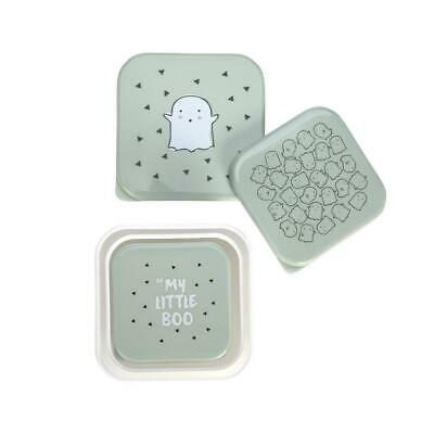 Set porta merenda, 3pezzi differenti, verde Verde