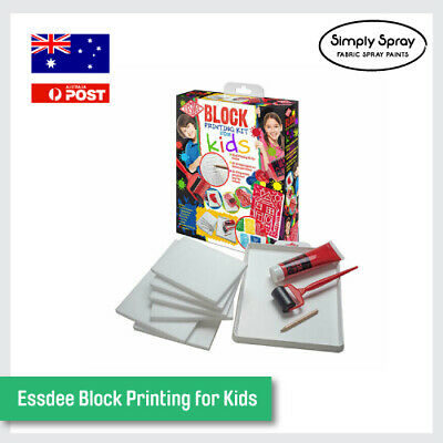 NEW Essdee Block Printing for Kids DIY.  Stamps Fun Project Kit