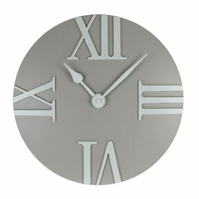 Hometime Wall Clock - Domed Roman Quarter Dial - Grey
