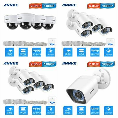 ANNKE 8MP/ 5MP/ 4MP/ 2MP POE Security IP Camera IR Night Home In/Outdoor for NVR