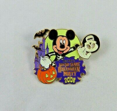 Disney WDW Pin - Mickey's Not So Scary Halloween Party 2008 Logo - Mickey Mouse