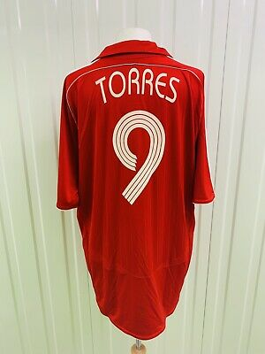 LIVERPOOL FC FOOTBALL SHIRT Adidas Soccer Jersey Large XL TORRES Vintage Retro