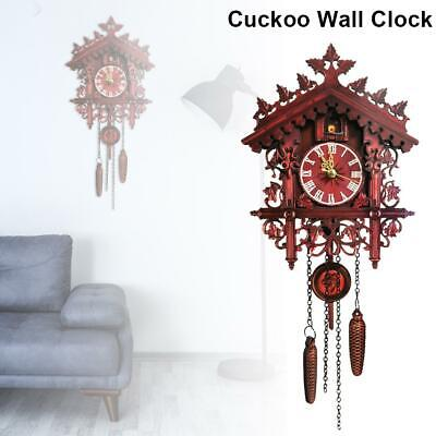 Retro Home Hanging Clock Rome Numeric Number Swing Cuckoo Clock Pendant Decorate