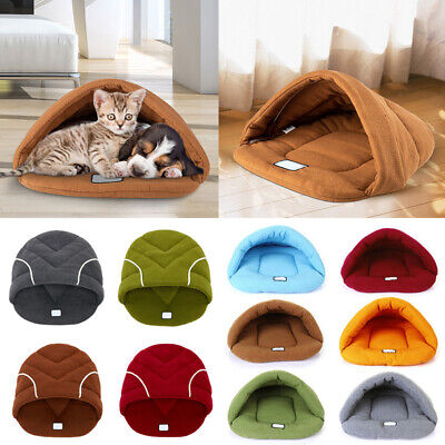 Puppy Pet Cat Dog House Sleeping Bag Kennel Bed Cave Mat Pad Tent Soft Warm Nest