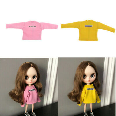 Fashion 1/6 Dolls Long-sleeve Hoodie Clothes for 12inch Dolls Dress up Accs