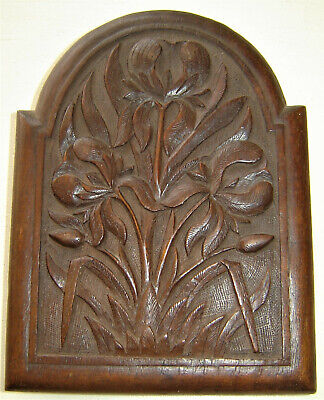 Vintage Art Nouveau Mahogony Victorian / Edwardian Carved Wooden Book End