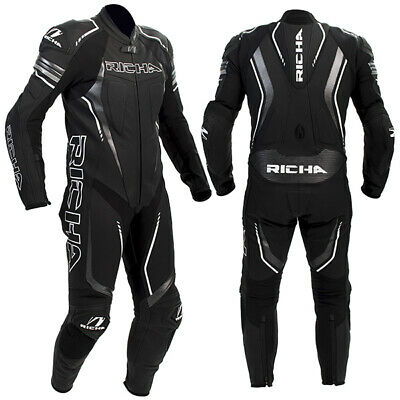 Richa Francorchamps Motorcycle Motorbike Leather 1 One Piece Suit - Black