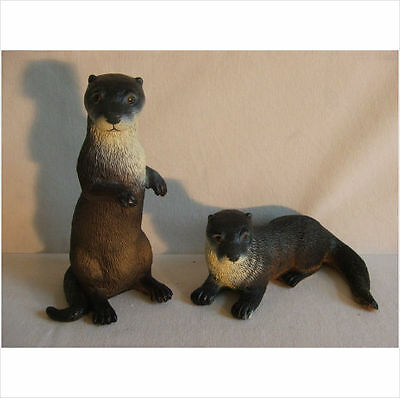Latex Mould Moulds Mold.          Set Of Two Detailed Otters.