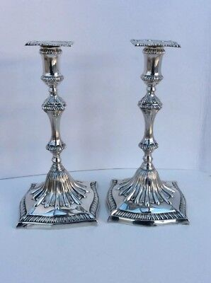 An Exceptional Pair of George III 1774 Cast Silver Candlesticks John Carter