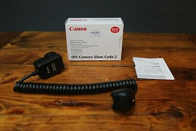 Canon EOS Off Camera Flash Shoe Code 2 Cord for Speedlite Boxed