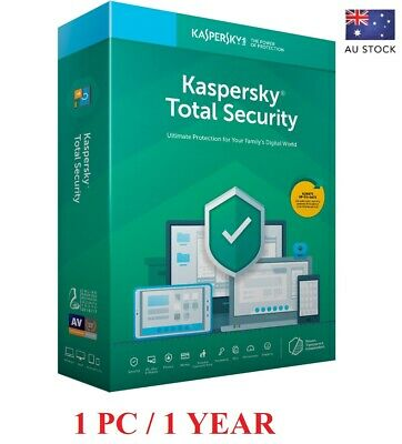 Kaspersky Total Security 2019/2020 Antivirus - 1 Pc | 1 Year Au Stock! 10$