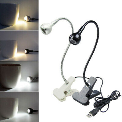 AE82 USB Book Lamp LED Clip Booklight Music Stand Piano Adjustable Reading Light