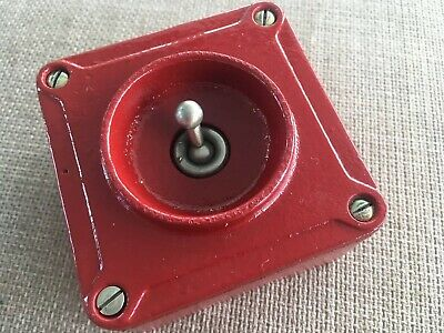Vintage Industrial Red Crabtree  Light Switch