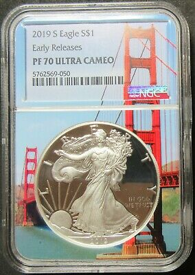 2019-S Early Releases American Eagle 1 Oz Silver Dollar Ngc Pf 70 Ultra Cameo