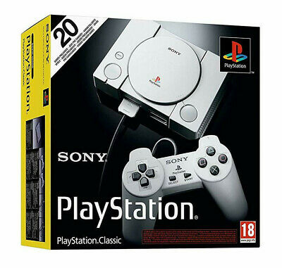 Sony PlayStation Classic with 20 Preloaded Games 2 Controllers BNIB New Sealed
