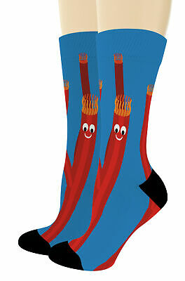 Funny Socks Wacky Waving Inflatable Flailing Arm Tube Man Novelty Crew Socks