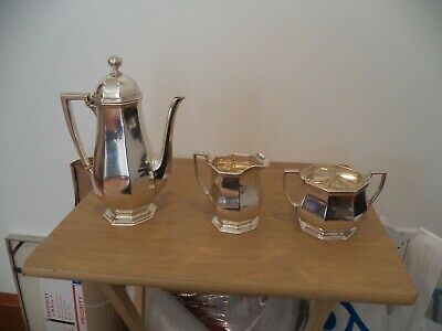 Antique Tiffany Co ENGLAND Footed THREE Piece Sterling Silver Coffee Tea Set