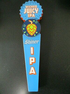 Shiner Wicked Juicy IPA Beer Tap Handle - TEXAS MAN CAVE- RARE- NEW