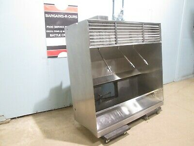 """DUO AIRE"" HD COMMERCIAL SS 63"" TYPE I RESTAURANT EXHAUST HOOD w/RETURN AIR VENT"