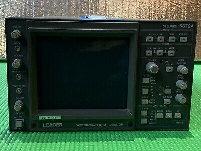 525 Lines 5872A Vector/Waveform Monitor by Leader Electronics