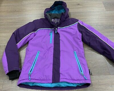 Girls Size 14 Purple CRANE Snow / Ski / Rain Coat / Hooded Jacket  *Great Con*