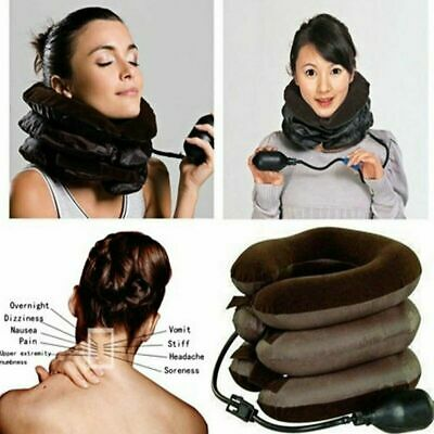 Soft Cervical Collar Neck Relief Traction Brace Support Stretcher Inflatable