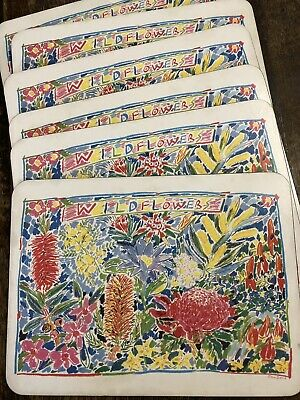 KEN DONE vintage Wildflowers Placemats